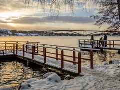 Bryggor vid Norr Malarstrand by <b>NinnieB</b> ( a Panoramio image )