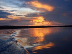 Sunset reflection by <b>kristine hannon</b> ( a Panoramio image )