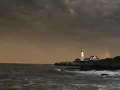 Portland Head Light Station Fort Williams Park Cape Elizabeth -  by <b>Lightvision</b> ( a Panoramio image )