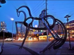 Wild Horses of Mississauga. Francisco Gazitua. Unveiled Dec 2011 by <b>Tomros</b> ( a Panoramio image )