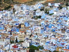 Chefchaouen, the blue city by <b>elakramine</b> ( a Panoramio image )