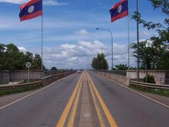 Friendship Bridge - Laos Thailand Border by <b>Wind Rider</b> ( a Panoramio image )