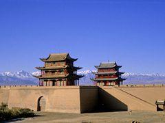 Jiayuguan. Das Fort am westlichen Ende der Mauer (1988) by <b>Hans-Joachim Bieda</b> ( a Panoramio image )