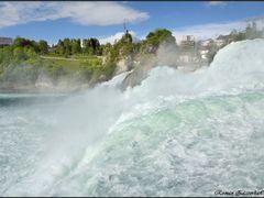 Waterfalls in Switzerland. Rhine Falls in Neuhausen am Rheinfall by <b>Roman Zazvorka</b> ( a Panoramio image )
