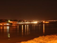 Khujand by night, a view off the new bridge - Ночной Худжанд, ви by <b>KPbICMAH</b> ( a Panoramio image )