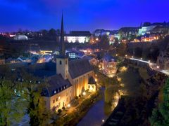 Luxembourg at dusk by <b>Ron Cooper</b> ( a Panoramio image )