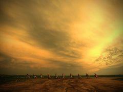 Sunset at Cadillac Ranch, Amarillo Texas by <b>markstillwagon</b> ( a Panoramio image )