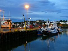 hafnarfjordur - harbour at night by <b>Karl Wiktorin</b> ( a Panoramio image )