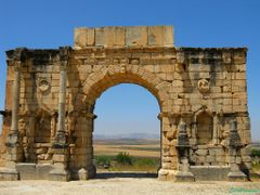 Triumph Arch, Roman ruins, Volubilis, (UNESCO World Heritage Sit by <b>elakramine</b> ( a Panoramio image )