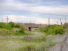 Вгорку, налево через мост к руднику. by <b>Ak_expert</b> ( a Panoramio image )