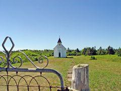 glise prs du phare de Miscou by <b>denisboucher</b> ( a Panoramio image )