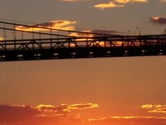 Ambassador Bridge at sunset - Detroit, MI, US by <b>Irene Kravchuk</b> ( a Panoramio image )