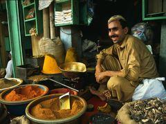 Peshawar Bazaar - Spice Salesman by <b>zerega</b> ( a Panoramio image )