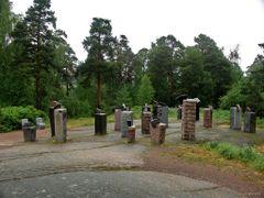 Finland Kotka Sapokka Stone Eagles by <b>paparazzistas</b> ( a Panoramio image )