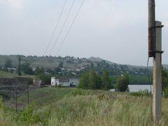 """Плотина, вдали - гора """"Гребенюшка"""" by <b>e1sm</b> ( a Panoramio image )"""