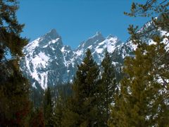 Grand Teton in early spring, Grand Teton National Park, Wyoming by <b>Richard Ryer</b> ( a Panoramio image )