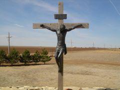 Jesus on Cross at Groom TX by <b>DieselDucy</b> ( a Panoramio image )