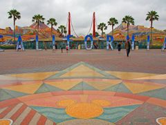 Entrance to California Adventure Panoramic by <b>© Michael Hatten http://www.sacred-earth-studios.com</b> ( a Panoramio image )