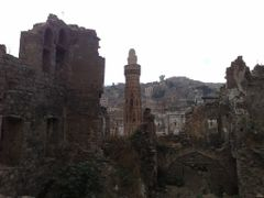 """Ruins of Queen Arwa""""s Palace, Dar al-""""Izz by <b>Prof. Richard T. Mortel</b> ( a Panoramio image )"""