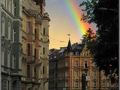 Rainbow in Innsbruck by <b>PMM</b> ( a Panoramio image )