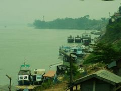 boats on Mekong near Golden Triangle.JPG by <b>world of pictures by KlausH</b> ( a Panoramio image )