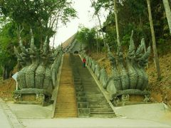 stairway nagas to Wat Phra That Pu Khao.JPG by <b>world of pictures by KlausH</b> ( a Panoramio image )