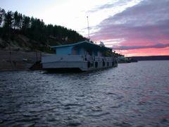 Bor wharfboat on Enisey by <b>Sergey Ilyukhin</b> ( a Panoramio image )