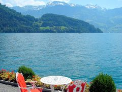 Vitznau - Im Garten des Parkhotel by <b>©hristian Stauffer</b> ( a Panoramio image )