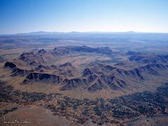 Aerial View of Gosses Bluff, Norther Territory by <b>DaveBiesse.com</b> ( a Panoramio image )