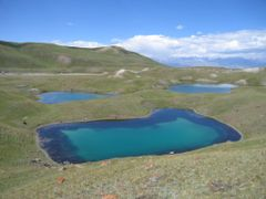 Lakes near Lenin Peak by <b>igor_alay</b> ( a Panoramio image )