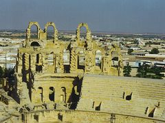 El Djem  1997-Ruins of Roman theater...© by leo1383 by <b>leo1383</b> ( a Panoramio image )