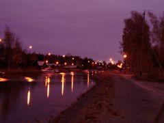 River Sunti by night by <b>Martonne Lang Boglarka</b> ( a Panoramio image )