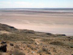 Amu- Darja River between deserts Kizil-Kum and Kara Kum by <b>Daniela Brocca</b> ( a Panoramio image )