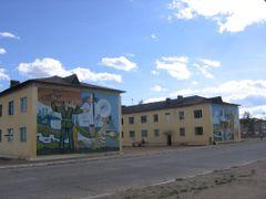 Mural, Choibalsan, Mongolia by <b>Sarah Gustafson</b> ( a Panoramio image )