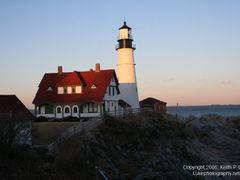 Portland Head Light at Sunset by <b>Keith P. Luke</b> ( a Panoramio image )