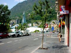 Andorra la Vella (Caldea from a distance) by <b>Tjarko Evenboer</b> ( a Panoramio image )