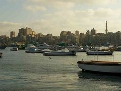 Alexandria, Egypt East Port SkyLine Panorama by <b>Ahmad Hegab</b> ( a Panoramio image )