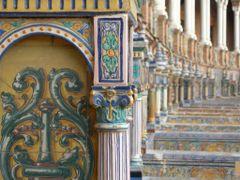 Ceramic benches of Plaza de Espana by <b>Eric Medvet</b> ( a Panoramio image )