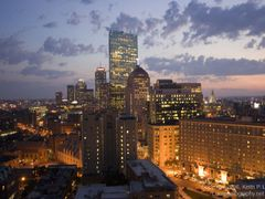 Boston at Dusk - from the Otherwise Unremarkable Radisson Hotel by <b>Keith P. Luke</b> ( a Panoramio image )