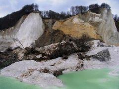 DK, Moens Klint, Jydelejet, Coastal landslide, jan 2007 by <b>Omar Ingerslev</b> ( a Panoramio image )