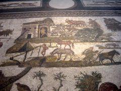 Mosaico con escenas de la vida cotidiana. Museo del Bardo. by <b>Arturo Garcia</b> ( a Panoramio image )
