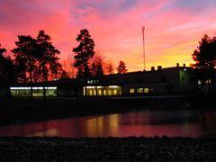 Satakunta University of Applied Sciences, Pori and a colorful su by <b>Juho Ruohola</b> ( a Panoramio image )