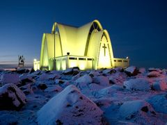 Kopavogur church by <b>oddurjons</b> ( a Panoramio image )