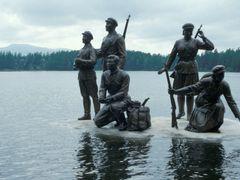 Monument at Lake Samji by <b>Eckart Dege</b> ( a Panoramio image )