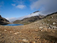 Foothills of Qoornup Qaqqaa & nameless lake by <b>marcus_weidler</b> ( a Panoramio image )