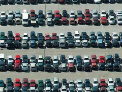 Carpark at Copenhagen airport, Aerial by <b>H. C. Steensen</b> ( a Panoramio image )