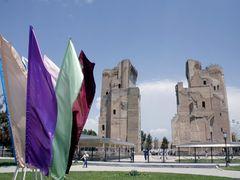 """Shakrisabz - Ak Serai (Tamerlan""""s palace) by <b>Cottius</b> ( a Panoramio image )"""