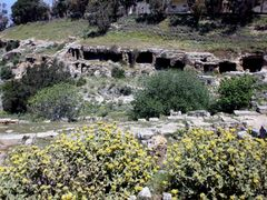 Cyrene - Troglodytic graves in the necropolis by <b>Cottius</b> ( a Panoramio image )
