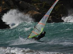 Windsurfing at Ramla bay by <b>William Stephens</b> ( a Panoramio image )