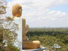 Golden Buddha + Sigiriya rock (pb) by <b>peter biewald</b> ( a Panoramio image )